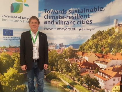 23rd February 2018: Beeyon invited to EU Covenant of  Mayors to present details of its European One Million Tonnes (Carbon Reduction) Campaign